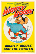 "Movie Posters:Animation, Mighty Mouse (20th Century Fox, 1943). One Sheet (27"" X 41"") ""Mighty Mouse and The Pirates."" Animation.. ..."