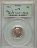 Coins of Hawaii , 1883 10C Hawaii Ten Cents AU50 PCGS. PCGS Population: (66/302). NGCCensus: (24/237). CDN: $225 Whsle. Bid for problem-free...