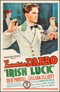 "Irish Luck (Monogram, 1939). One Sheet (27"" X 41""). Action"