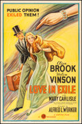 "Movie Posters:Romance, Love in Exile (Gaumont, 1936). One Sheet (27"" X 41""). Romance.. ..."