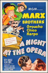 """A Night at the Opera (MGM, R-1948). One Sheet (27"""" X 41""""). Comedy"""