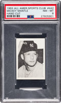 Baseball Cards:Singles (1950-1959), 1955 All American Sports Club Mickey Mantle #442 PSA NM-MT 8....