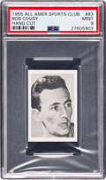 Basketball Cards:Singles (Pre-1970), 1955 All American Sports Club Bob Cousy #83 PSA Mint 9....