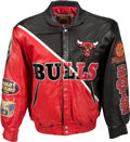Basketball Collectibles:Others, 1996 Chicago Bulls Leather Jacket by Jeff Hamilton....