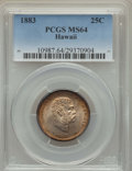 Coins of Hawaii , 1883 25C Hawaii Quarter MS64 PCGS. PCGS Population: (356/341). NGCCensus: (245/276). CDN: $400 Whsle. Bid for problem-free...