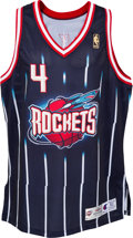 Basketball Collectibles:Uniforms, 1996-97 Charles Barkley Game Worn Houston Rockets Jersey - WithLetter from Family of Equipment Manager. ...