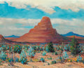 Fine Art - Painting, American, Dwight Clay Holmes (American, 1900-1986). San Diego Peak, BigBend Park, 1984. Oil on canvas. 16 x 20 inches (40.6 x 50....