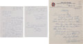 Baseball Collectibles:Others, 1967 Paul & Lloyd Waner Handwritten Signed Letters Lot of 2....