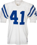 Football Collectibles:Uniforms, 1971-72 Tom Matte Game Worn & Signed Baltimore Colts Jersey....