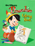 Original Comic Art:Covers, Frank McSavage Pinocchio Coloring Book Cover PaintingOriginal Art (Whitman, 1961).... (Total: 2 Original Art)