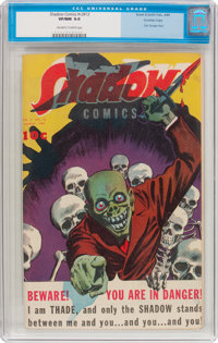 Shadow Comics V3#12 Crowley Copy pedigree (Street & Smith, 1944) CGC VF/NM 9.0 Off-white to white pages