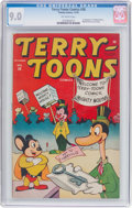 Golden Age (1938-1955):Funny Animal, Terry-Toons Comics #38 (Timely, 1945) CGC VF/NM 9.0 Off-whitepages....