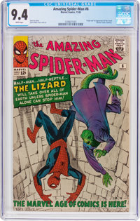 The Amazing Spider-Man #6 (Marvel, 1963) CGC NM 9.4 White pages