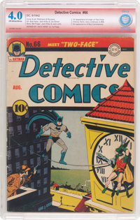 Detective Comics #66 Verified Signature (DC, 1942) CBCS VG 4.0 Off-white to white pages