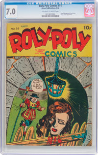 Roly Poly Comic Book #14 (Green Publishing Co., 1946) CGC FN/VF 7.0 Off-white to white pages