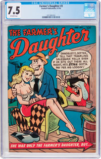 The Farmer's Daughter #3 (Stanhall Publications, 1954) CGC VF- 7.5 Off-white pages