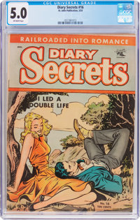Diary Secrets #16 (St. John, 1953) CGC VG/FN 5.0 Off-white pages