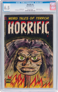 Horrific #4 (Comic Media, 1953) CGC FN+ 6.5 Off-white to white pages