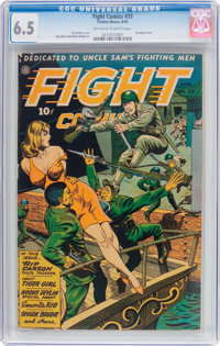 Fight Comics #33 (Fiction House, 1944) CGC FN+ 6.5 Off-white to white pages