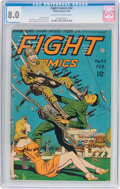 Golden Age (1938-1955):War, Fight Comics #42 (Fiction House, 1946) CGC VF 8.0 Off-white to white pages....