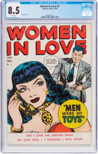 Women in Love #4 (Superior Comics, 1950) CGC VF+ 8.5 White pages