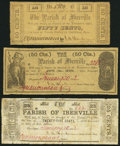 Obsoletes By State:Louisiana, Plaquemine, LA- Parish of Iberville 25¢; 50¢(2) 1862. ... (Total: 3 notes)