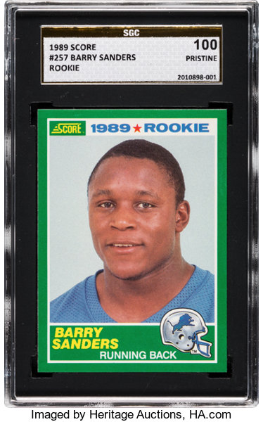 1989 Score Barry Sanders 257 Sgc 100 Pristine Football