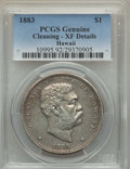 Coins of Hawaii , 1883 $1 Hawaii Dollar -- Cleaning -- PCGS Genuine. XF Details. NGCCensus: (67/318). PCGS Population: (182/511). CDN: $500 ...