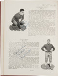 """Football Collectibles:Publications, 1930 Notre Dame Fighting Irish Multi-Signed""""Official Football Review"""" Publications Lot of 2 - Undefeated National Championship..."""