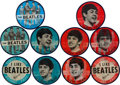Music Memorabilia:Memorabilia, Beatles Group of Ten Flasher Buttons (US, 1964).... (Total: 10Items)