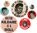 Music Memorabilia:Memorabilia, James Brown, T-Rex, Paul Anka and Others - Group of Pinback Buttons.... (Total: 7 )
