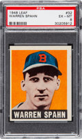 Baseball Cards:Singles (1940-1949), 1948 Leaf Warren Spahn #32 PSA EX-MT 6....