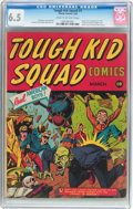 Golden Age (1938-1955):Superhero, Tough Kid Squad Comics #1 (Timely, 1942) CGC FN+ 6.5 Cream to off-white pages....