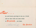 Music Memorabilia:Autographs and Signed Items, Elvis Presley Signed Christmas Card (1959). ...