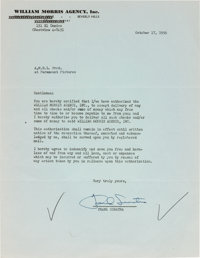A Frank Sinatra Signed Letter, 1956
