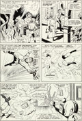 Original Comic Art:Panel Pages, Jack Kirby and Vince Colletta Fantastic Four #41 Story Page 12 Sandman and the Wizard Original Art (Marvel, 1965)....