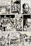Original Comic Art:Panel Pages, Barry Smith, Sal Buscema, Dan Adkins, and Chic Stone Conan the Barbarian #23 Story Page 6 Original Art (Marvel, 19...