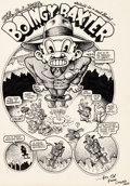 "Original Comic Art:Complete Story, Robert Crumb Motor City Comics #1 ""Boingy Baxter"" Complete5-Page Story Original Art (Rio Off Press, 1969).... (Total: 5Original Art)"