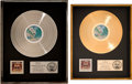 Music Memorabilia:Awards, Doobie Brothers Best of the Doobies RIAA Gold and PlatinumSales Awards Both Presented to David Gest (Warner Bros.... (Total:2 Items)