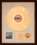 Music Memorabilia:Awards, Dionne Warwick Here, Where There is Love RIAA White Matte Gold Sales Award Presented to Burt Bacharach (Scepter SP...