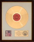 Music Memorabilia:Awards, Andy Williams Honey RIAA White Matte Gold Record Sales Award(Columbia CS 9962, 1968)....