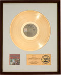 Music Memorabilia:Awards, Herb Alpert & the Tijuana Brass Greatest Hits RIAA WhiteMatte Gold Sales Award (A&M SP-4245, 1970)....