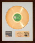Music Memorabilia:Awards, Sandpipers Guantanamera RIAA White Matte Gold Sales AwardPresented to Herb Alpert (A&M SP-4117, 1970)....