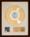 Music Memorabilia:Awards, Barry White Stone Gon' RIAA White Matte Gold Sales Award(20th Century T-423, 1973)....