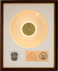 Music Memorabilia:Awards, Billy Paul 360 Degrees of Billy Paul RIAA White Matte GoldSales Award (Philadelphia International KZ 31793, 1972)...