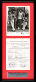 Music Memorabilia:Autographs and Signed Items, Chi-Lites Signed Midnight Special Contract (1973)....