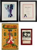 Music Memorabilia:Awards, Sonny & Cher Memorabilia Group (1960s-70s).... (Total: 4 Items)