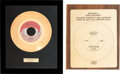 Music Memorabilia:Awards, Honey Cone & Lulu - Two In-House Gold Record Awards (Hot Wax& Epic, 1971 & 1967)....