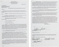 Destiny's Child (Beyoncé Knowles, Kelly Rowland, Michelle Williams) Signed Contract for 'Michael Jackson: 30th An...