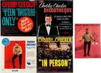 "Chubby Checker Signed ""Twist Folio"" and Four Sealed LPs (Parkway, 1960s)"
